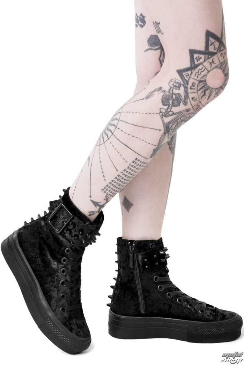 boty s klínem KILLSTAR UNHOLY HIGH TOPS 36