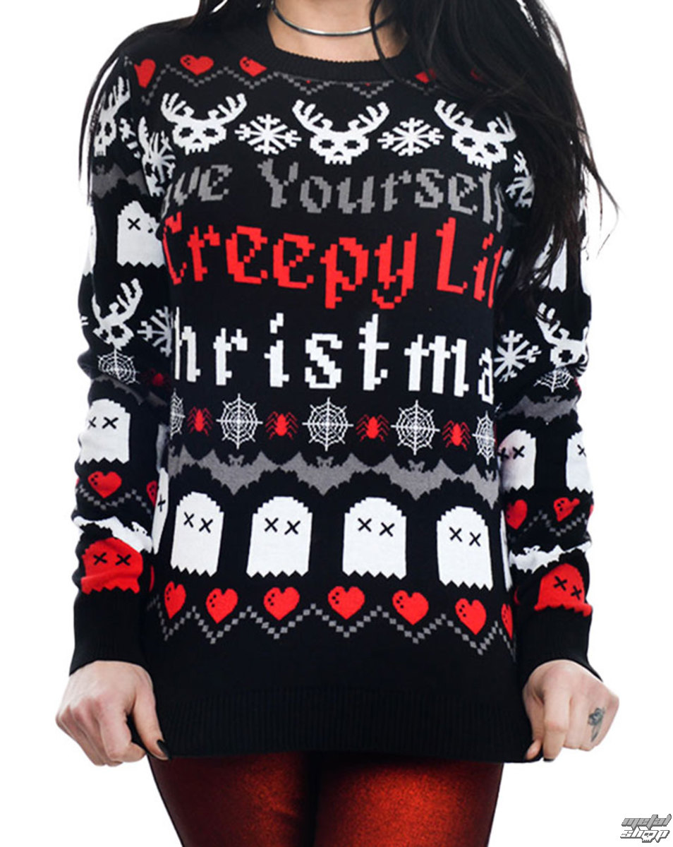 svetr dámský TOO FAST - HAVE YOURSELF CREEPY LIL CHRISTMAS UGLY CHRISTMAS - WTXM-T-CRELIL