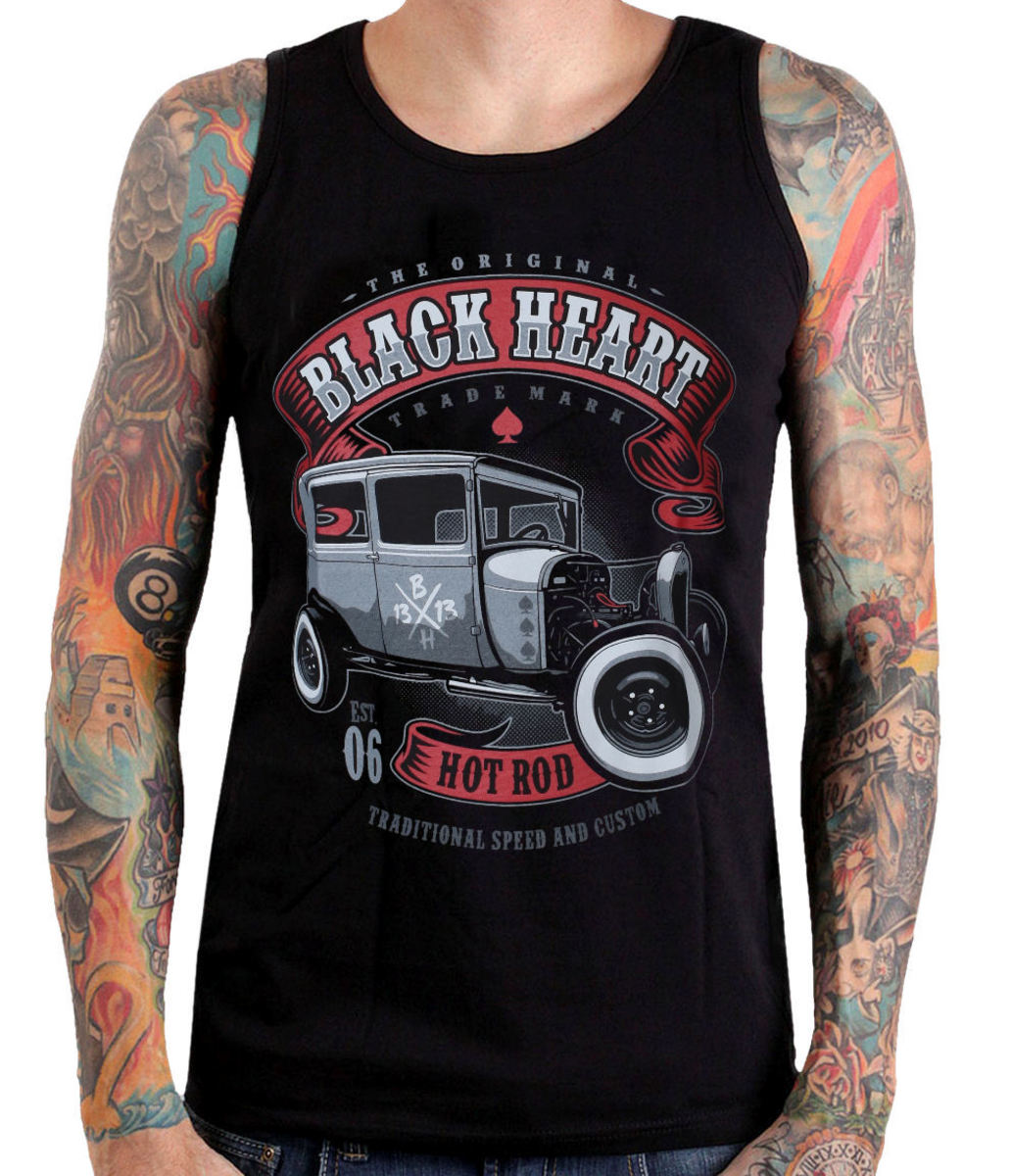 tílko BLACK HEART HOT ROD M