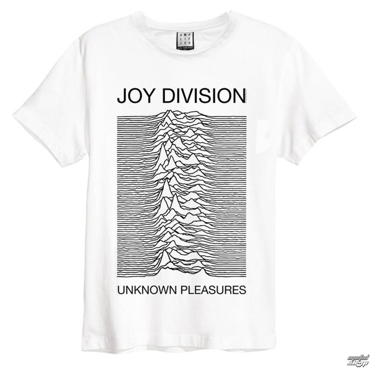 9763b1080d45 tričko pánské Joy Division - Unknown Pleasures - White - AMPLIFIED ...