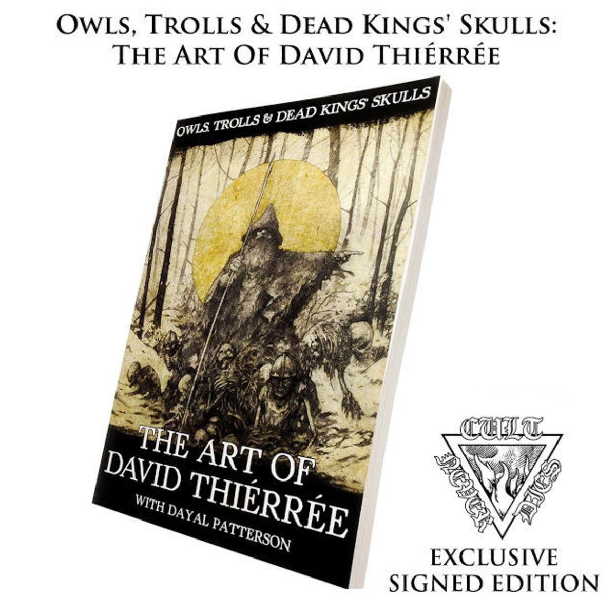kniha Owls, Trolls, Dead King's Skulls: Art Of David Thiérrée (signed) - CULT005