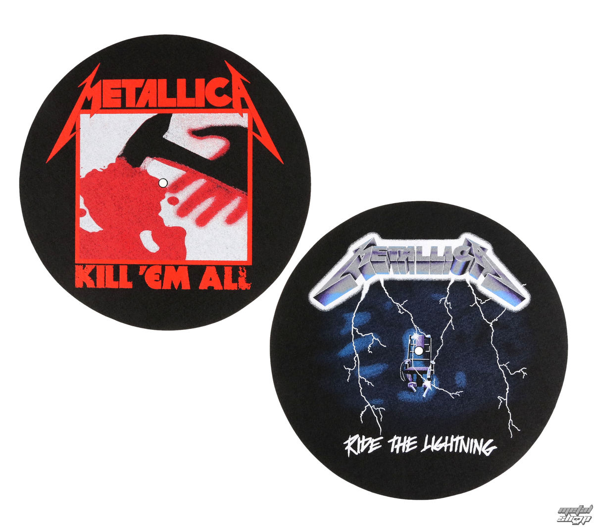 podložka na gramofon (set 2ks) METALLICA - KILL EM ALL - RIDE THE LIGHTENING - RAZAMATAZ - SM011