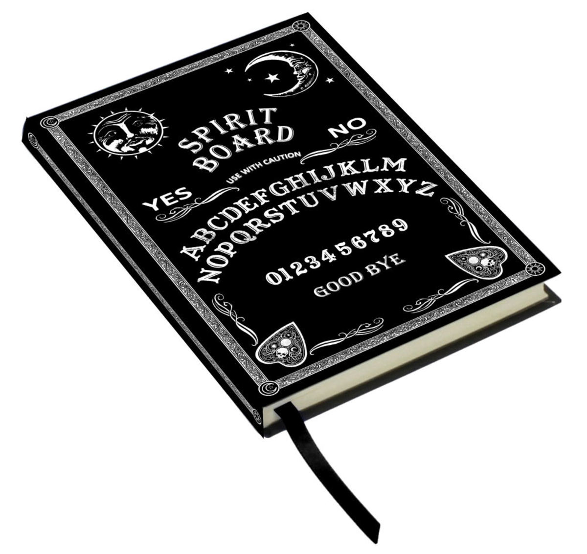 poznámkový blok Embossed Journal Black and White Spirit Board - B4293M8