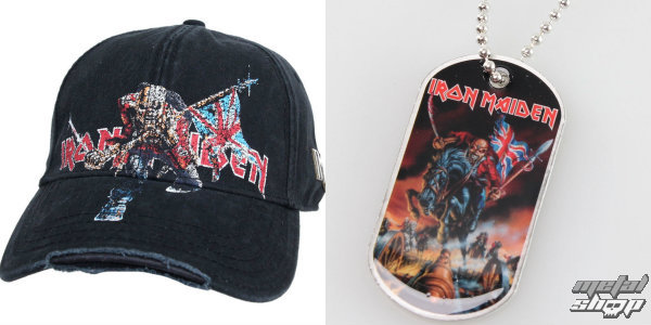Balíček Iron Maiden - kšiltovka a psí známka