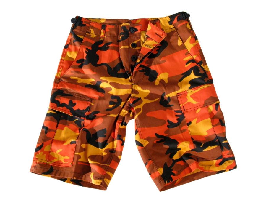 kraťasy pánské US-BDU - Army - Orange Camo - 20080