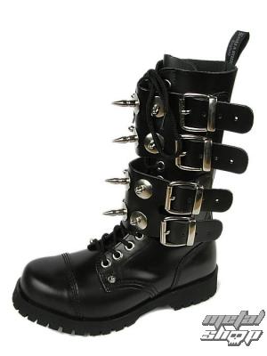 boty BOOTS & BRACES - Scare 4-buckles - ČERNÉ - 601404