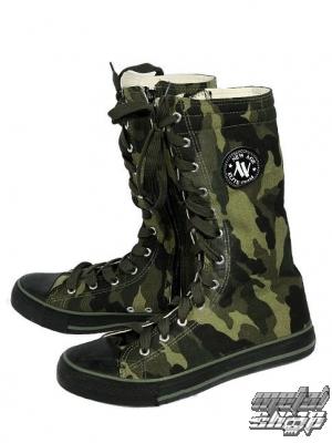 boty plátěné vysoké 4268 - MILITARY - NEW AGE