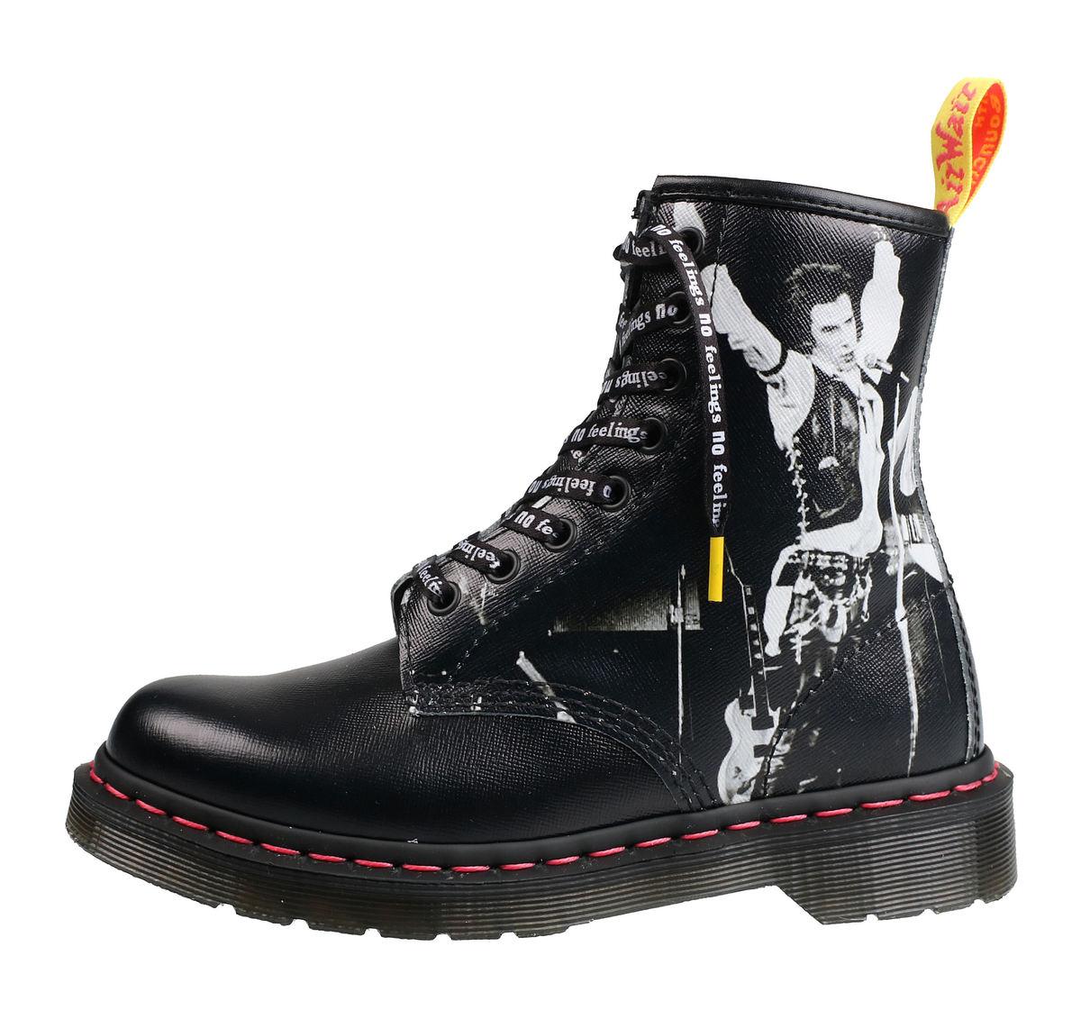 ce4ed8bd48 boty koďż˝enďż˝ unisex Sex Pistols - 8 dďż˝rkovďż˝ - Dr