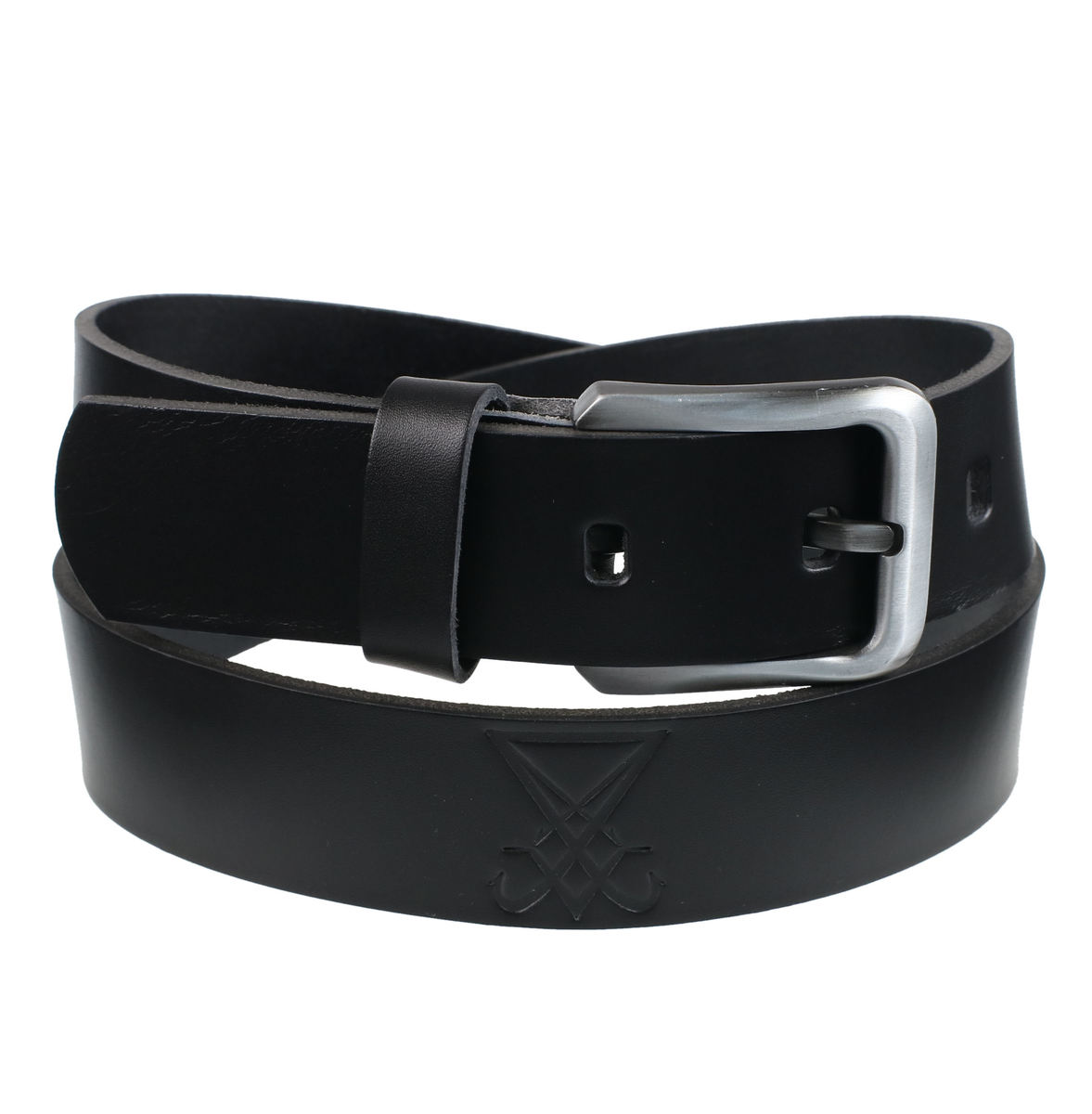 opasek s kovem Leather & Steel Fashion black 100
