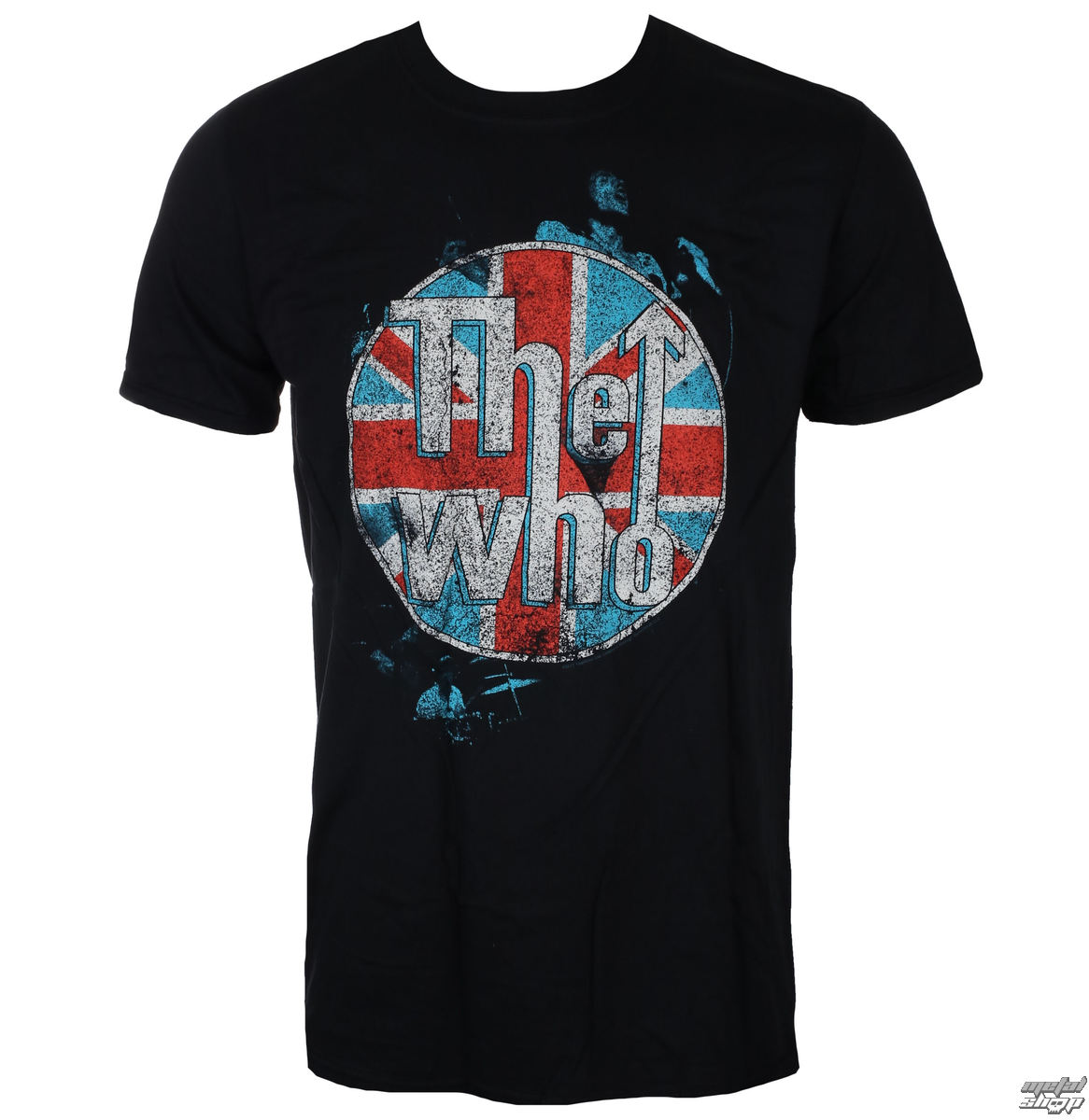 tričko pánské THE WHO - LOGO STANDING - BLACK - LIVE NATION
