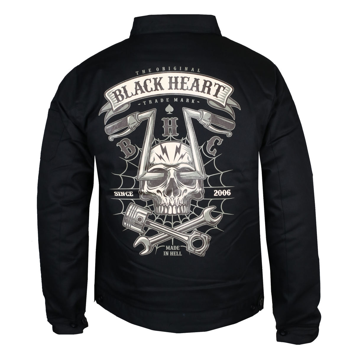 bunda jarněpodzimní BLACK HEART CHOPPER SKULL M