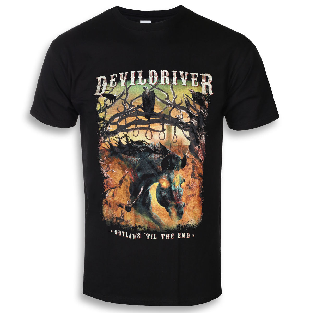 Tričko metal NAPALM RECORDS Devildriver Outlaws Til The End černá M