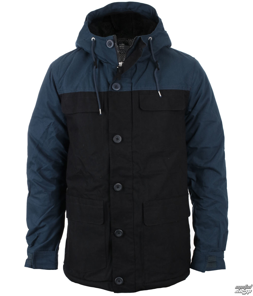 bunda zimní - Goodstock Blocked Parka - GLOBE - GB01637014-BLK