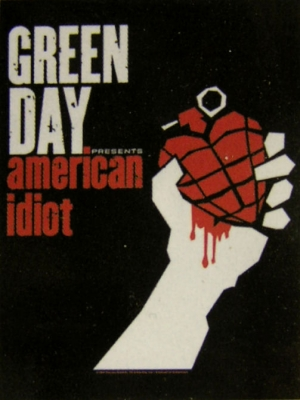 vlajka Green Day - American Idiot