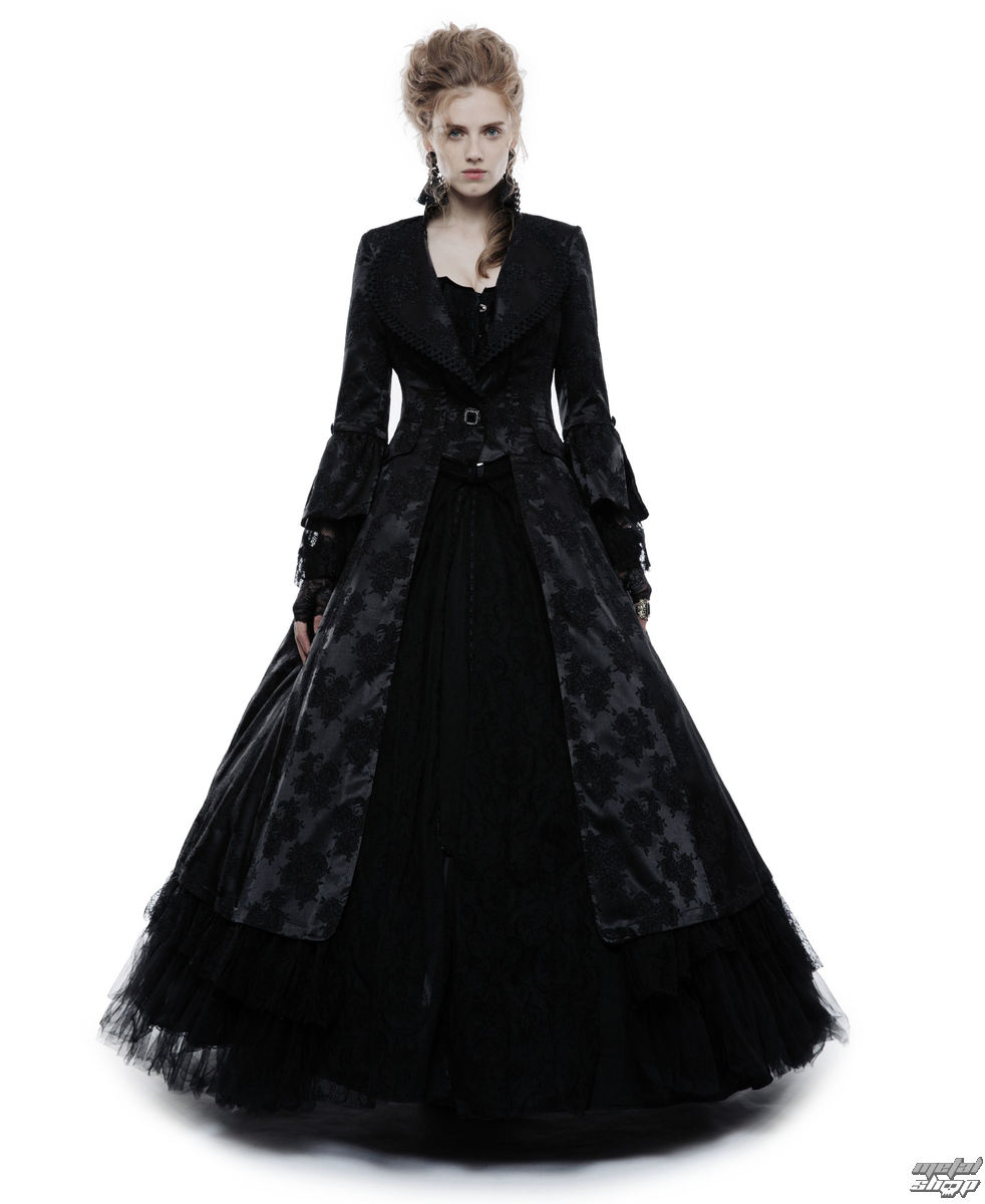 kabát PUNK RAVE Black Ruby Gothic ball S