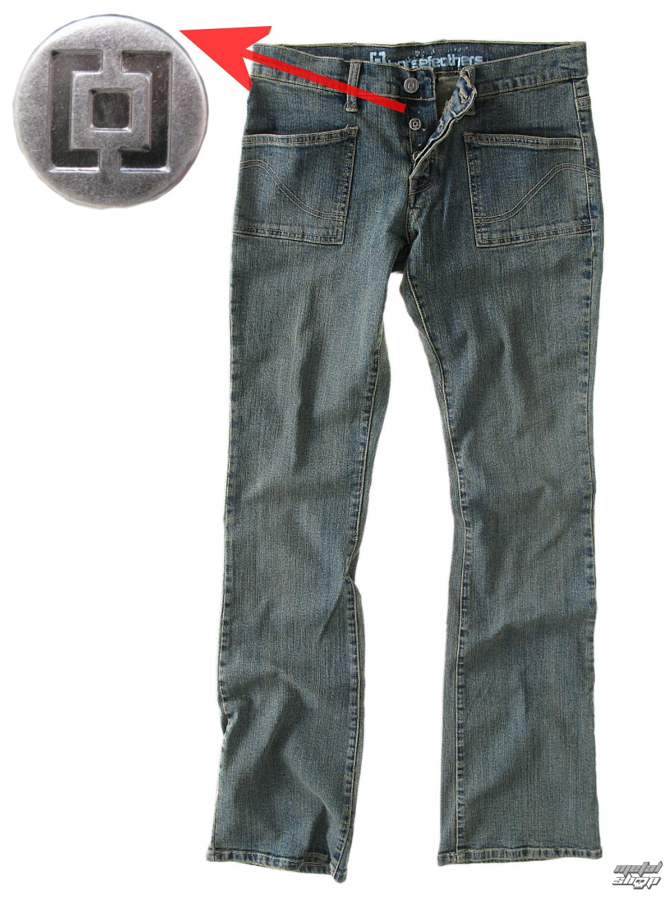 kalhoty dámské (jeansy) HORSEFEATHERS - Twin - Medium Mash