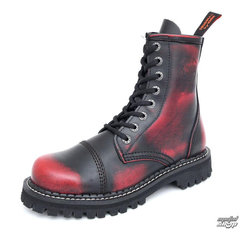 9bbc85ced8e boty KMM - 8dírkové - Black Red - 080 - metalshop.cz