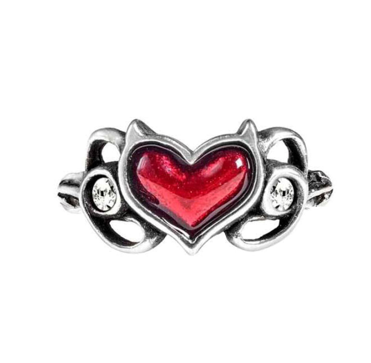 prsten ALCHEMY GOTHIC - Little Devil Heart - R238 T