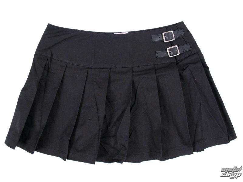 sukně dámská Black Pistol - Buckle Mini Denim - Black - B-2-48-001-00