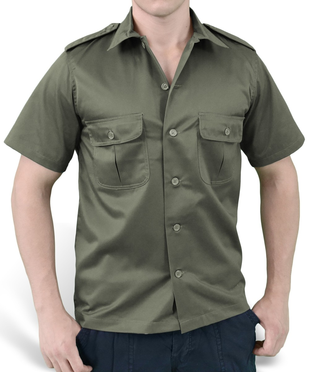 košile SURPLUS - US Hemd 12 - OLIV - 06-3582-01
