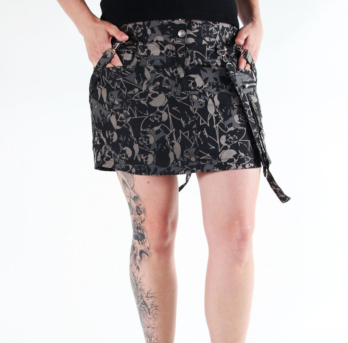sukně dámská HEAVENLY DEVIL - DEV33 - Skirt SkullCamo L