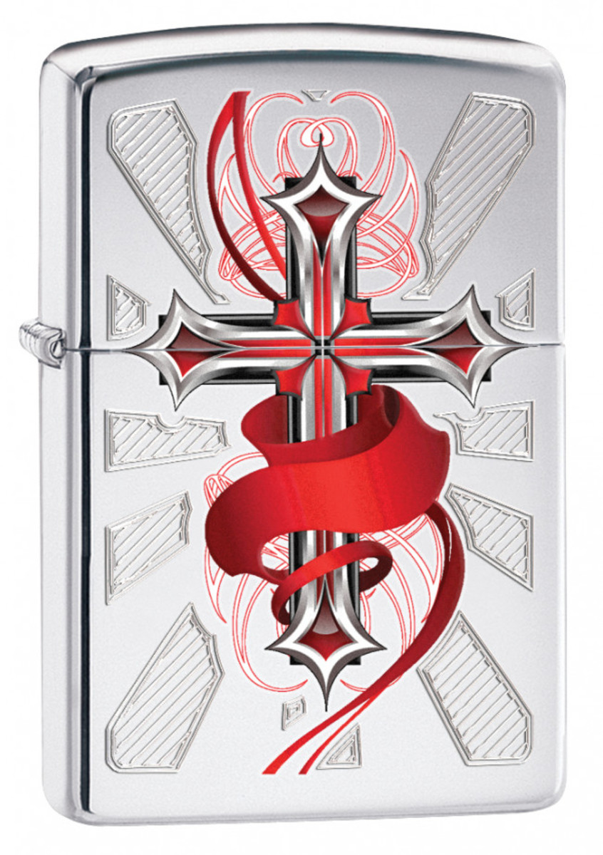 zapalovač ZIPPO - CROSS WITH WING - 41689285265