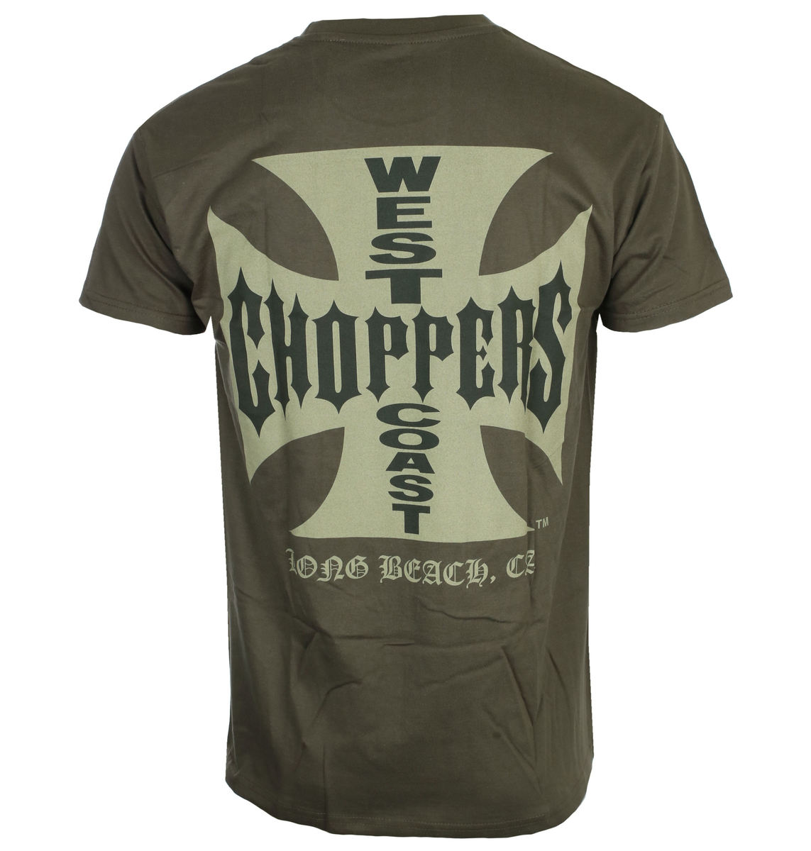 tričko pánské West Coast Choppers - OG CROSS - Solid khaki - WCCTS132667KH