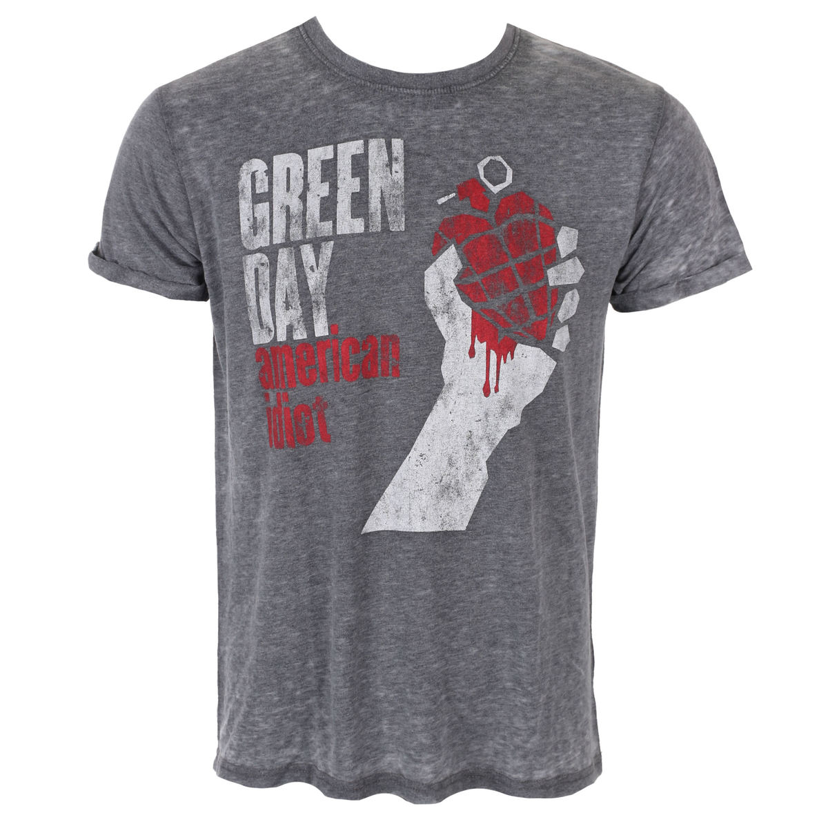 tričko pánské Green Day - American Idiot Vintage - Burnout - ROCK OFF - GDBO01MC