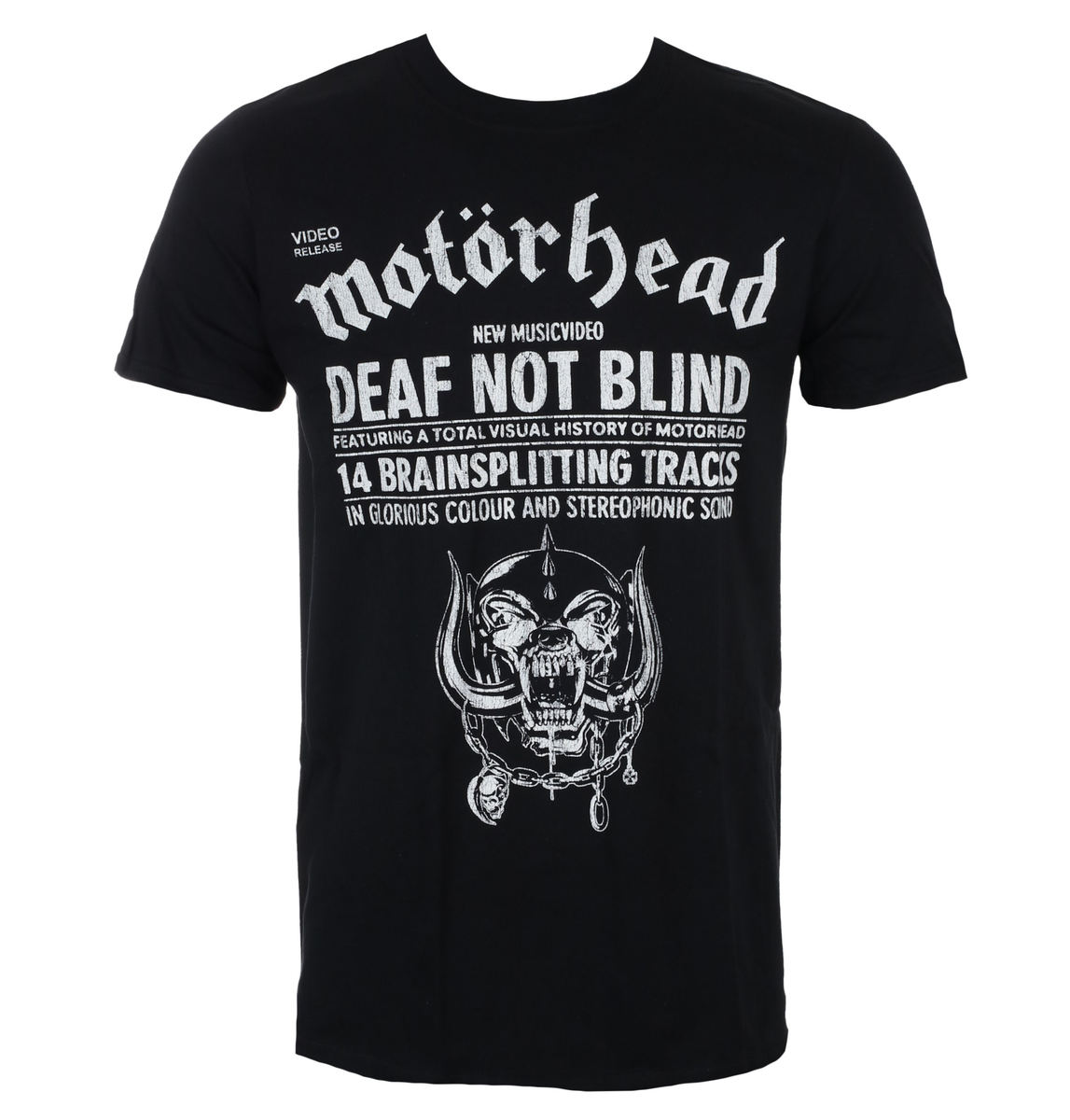tričko pánské Motörhead - Deaf Not Blind - Black - ROCK OFF - MHEADTEE44MB