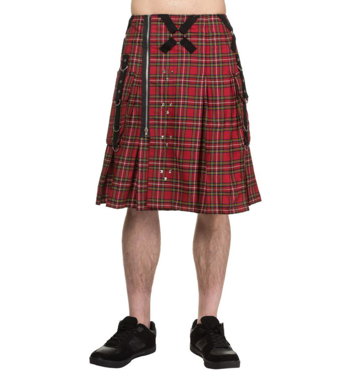 kilt pánský DEAD THREADS - Red Tartan - KC9875 30