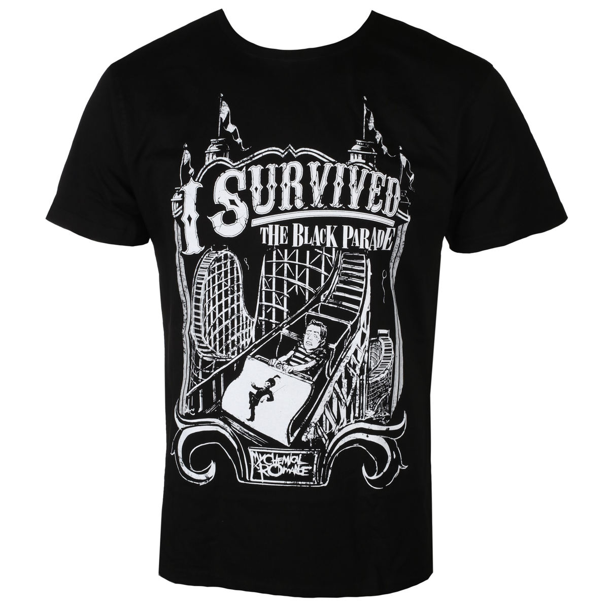tričko pánské My Chemical Romance - I SURVIVED - BLACK - LIVE NATION - PE14664TSB