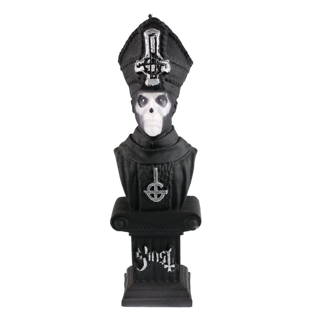svíčka GHOST - PAPA EMERITUS - BLACK MATT - PLASTIC HEAD - PHCAND026