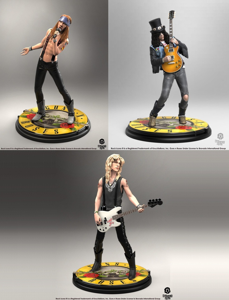 figurky (set) Guns N Roses - Band - Rock Iconz - KNUCKLEBONZ