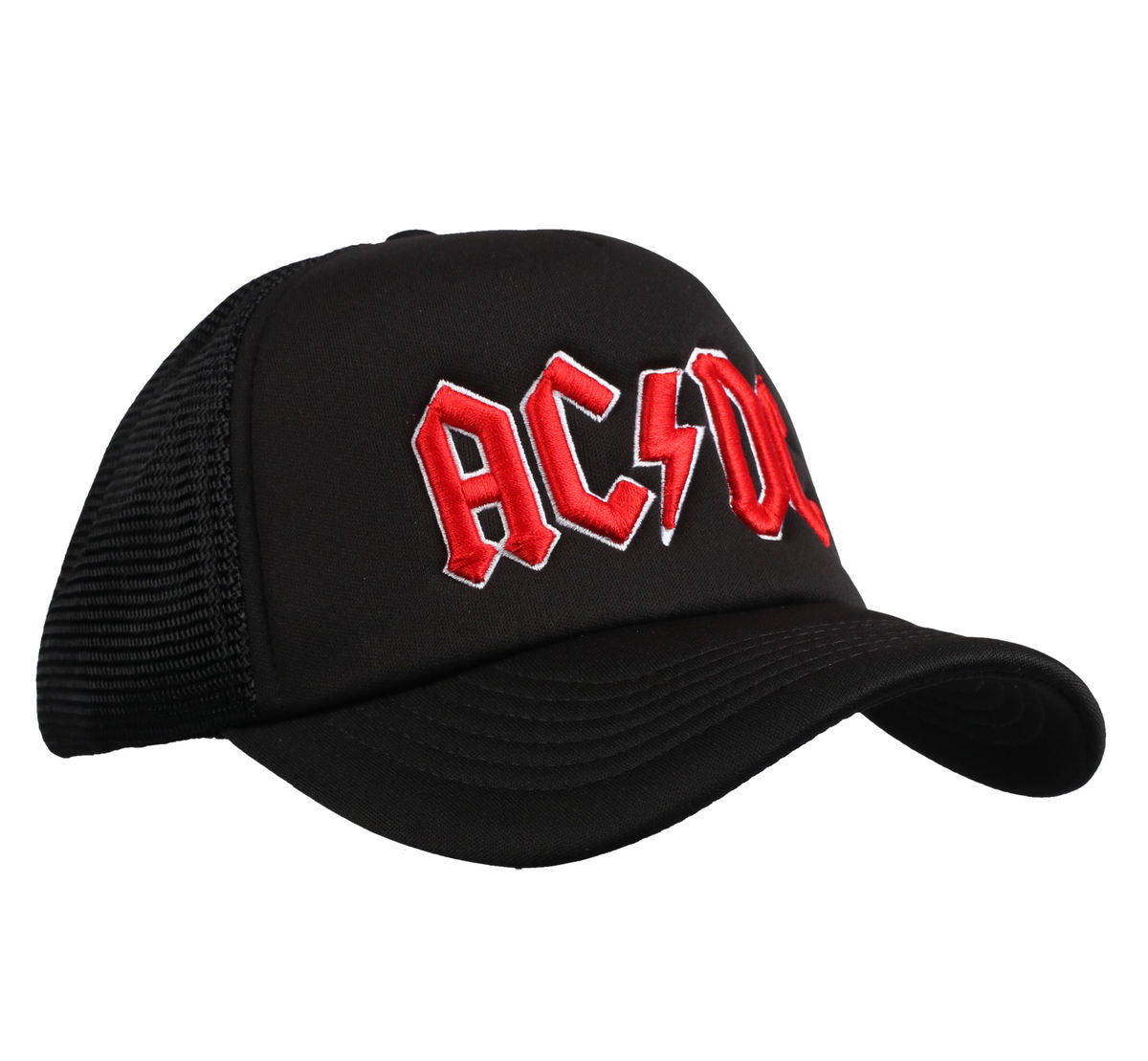 kšiltovka ACDC - Red Logo Black - ROCK OFF - ACDCMBCAP01B