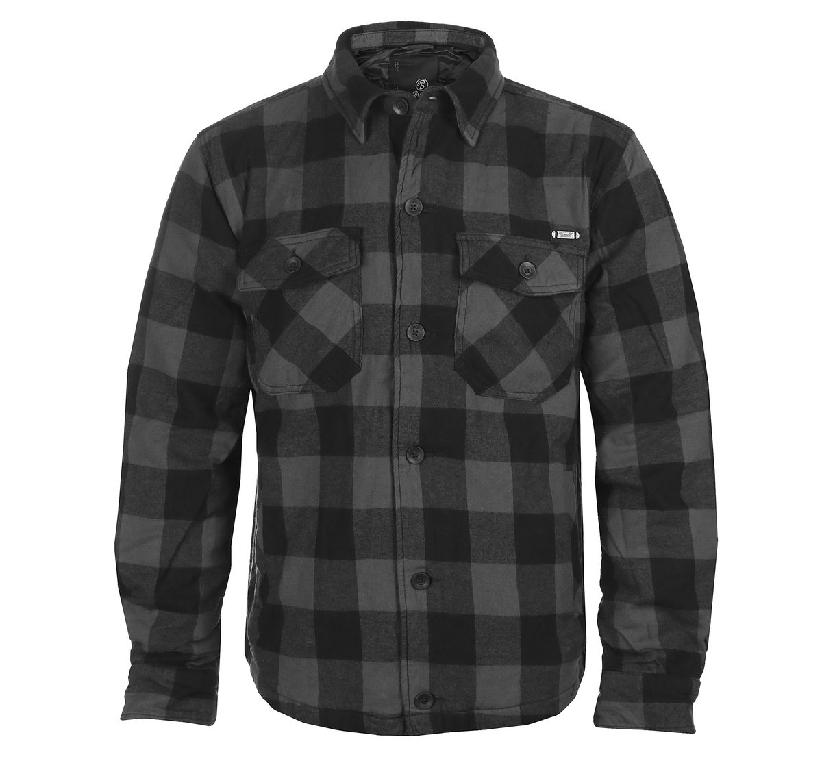 bunda pánská BRANDIT - Lumberjacket - 9478-blackgrey checked