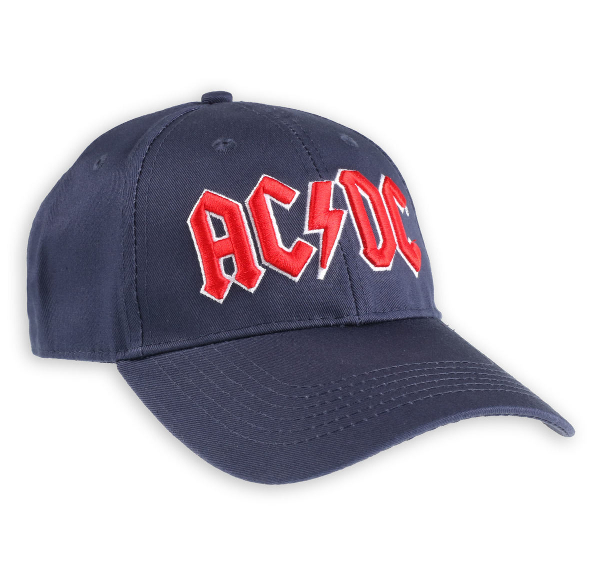 kšiltovka ACDC - Red Logo Navy - ROCK OFF - ACDCCAP02N