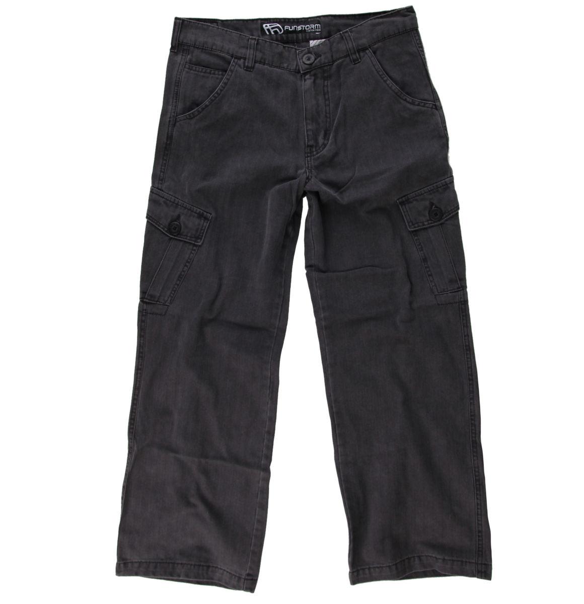 kalhoty dětské FUNSTORM - DESTYL 20 - Tm.šedé