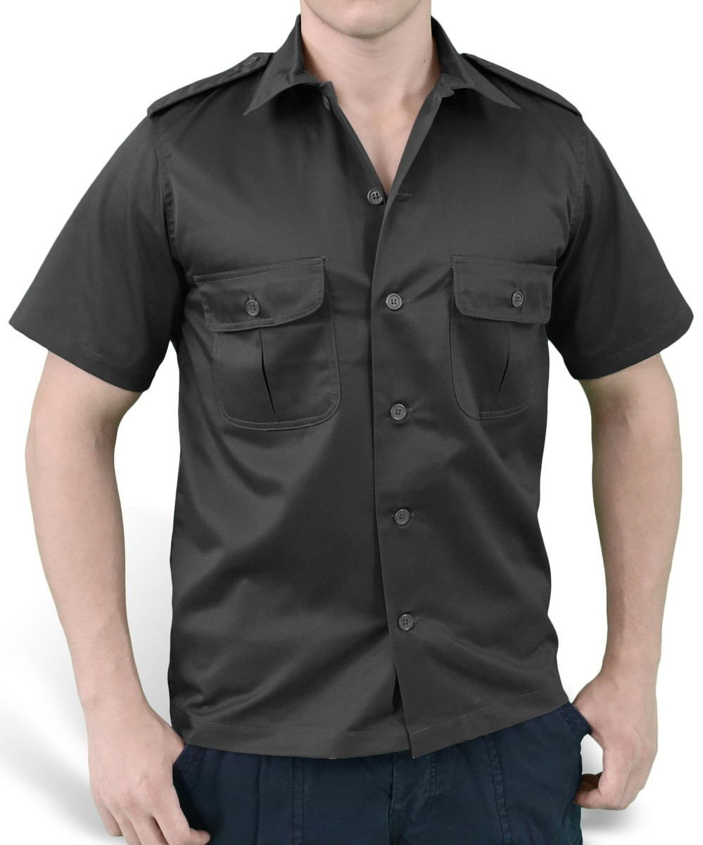 košile SURPLUS - US Hemd 12 - BLACK - 06-3582-03