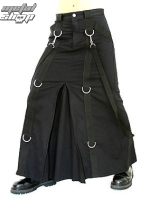 kilt Aderlass - Chain Skirt Denim Black - A-2-20-001-00 S