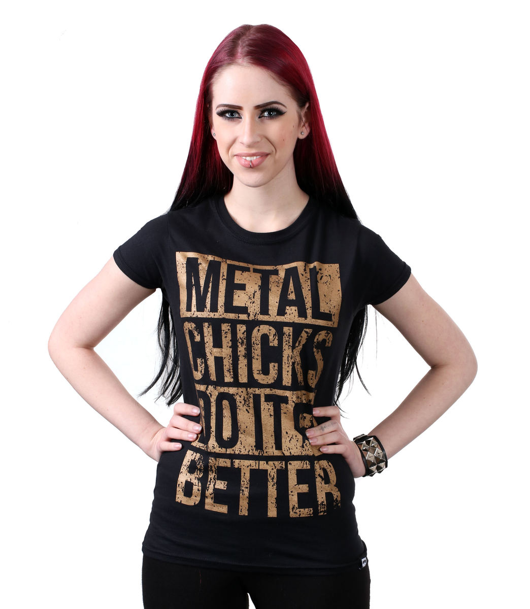 METAL CHICKS DO IT BETTER Metal chicks černá