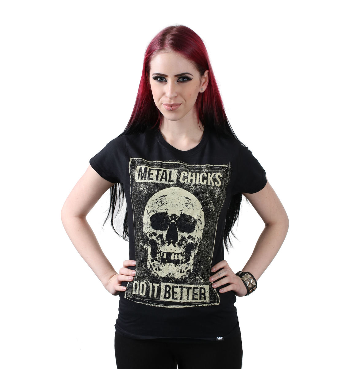 tričko dámské METAL CHICKS DO IT BETTER - SKULL - MCDIB019