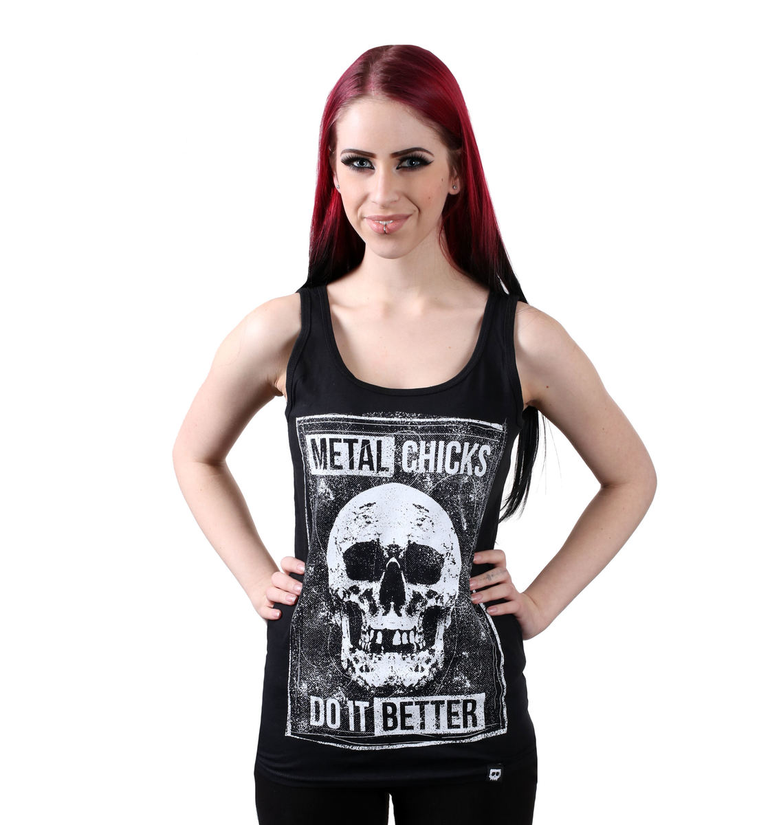 tílko dámské METAL CHICKS DO IT BETTER - SKULL - MCDIB022