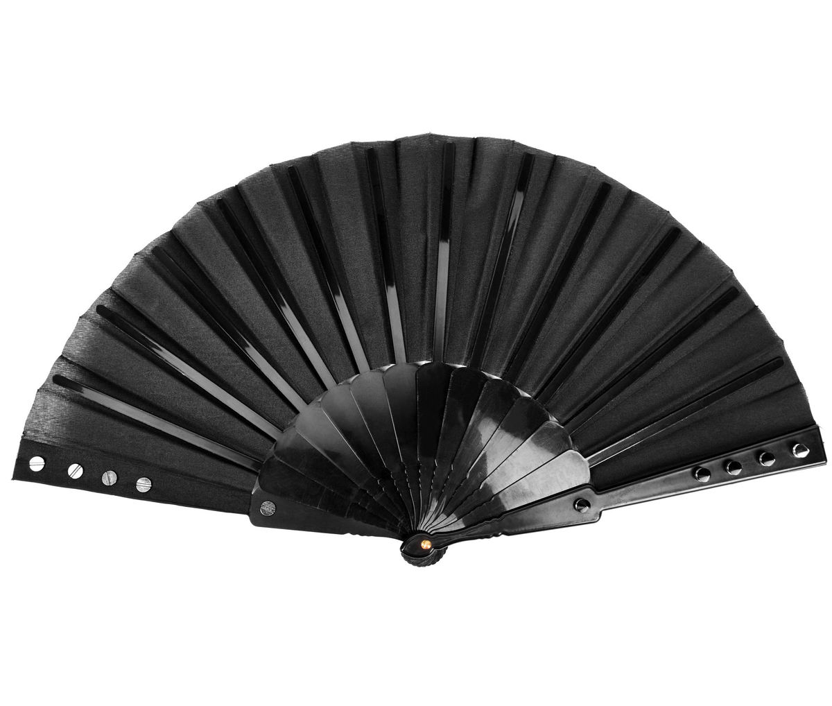 vějíř PUNK RAVE - Deviless spiked fan - WS-268QTF BK