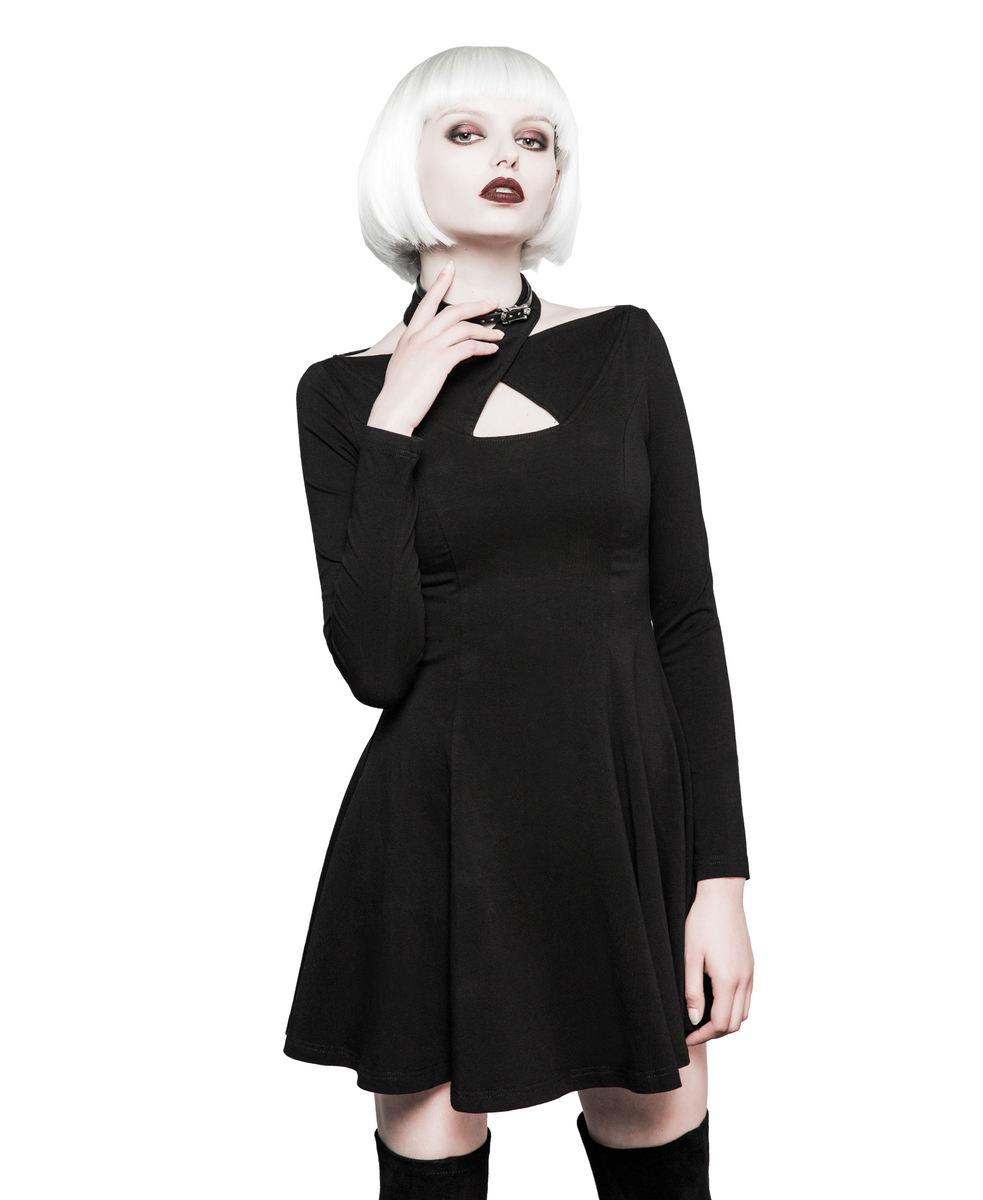 šaty dámské PUNK RAVE - Mystica little - OPQ-281 BK XL-XXL