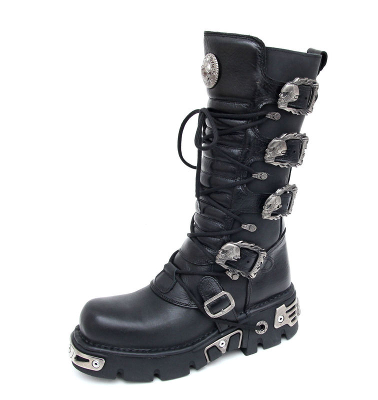 boty NEW ROCK - 5-Buckle Boots (402-S1) Black - N-8-30-700-00