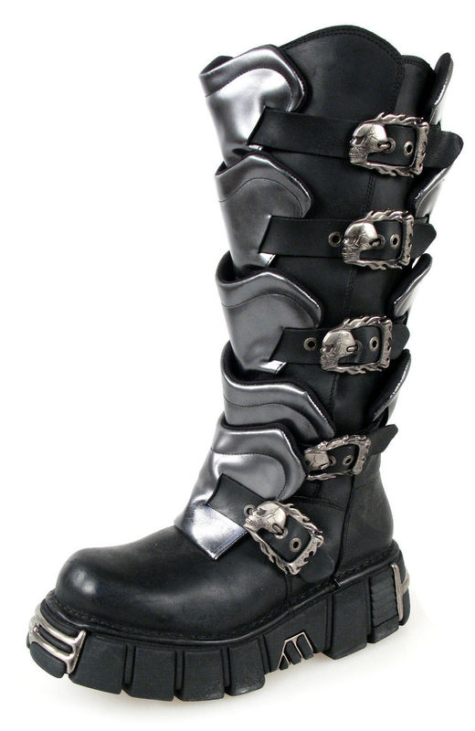 boty NEW ROCK - Gladiator Boots (738-S1) Black-Grey - N-8-40-700-08