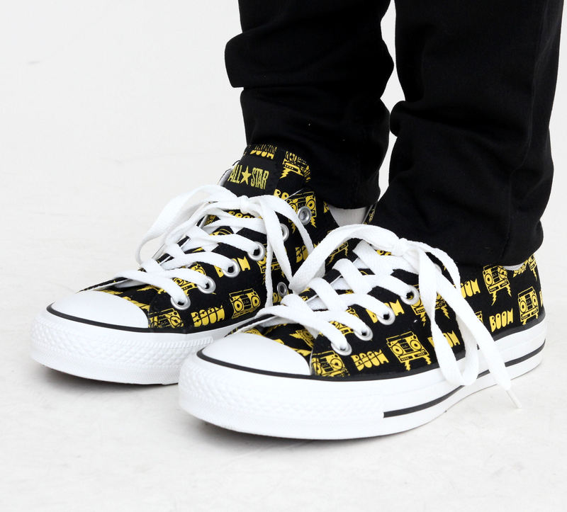 boty CONVERSE - CT Punk OX - Black/Yellow - 108758