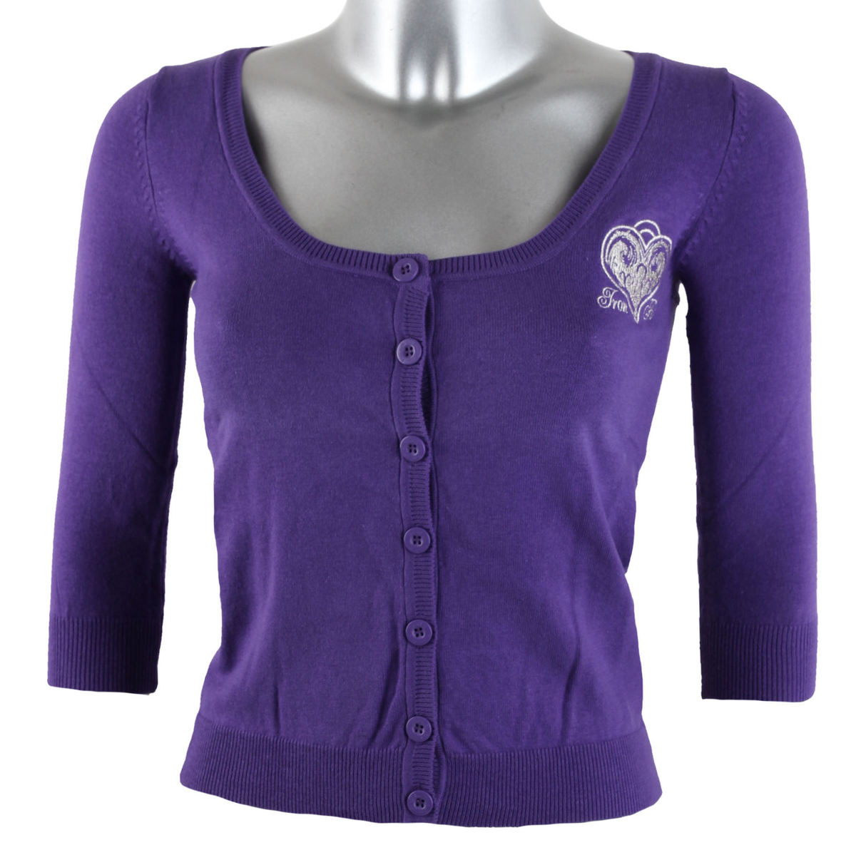 svetr dámský IRON FIST - Skull Locked Cardigan - Purple