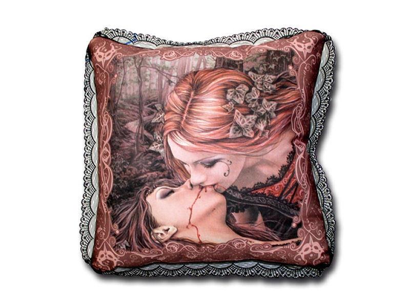 polštář Victoria Francés - KISSEN ECKIG KISS BROWN - 10284200