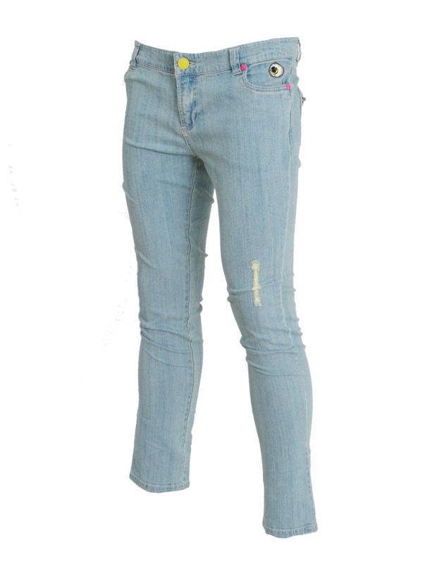 kalhoty dámské (jeansy) IRON FIST - Eyeballs Skinny Denims - BLEACH WASH DENIM - IFL0177